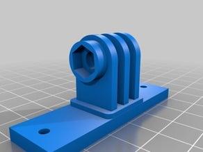 Gopro mount for delta printer