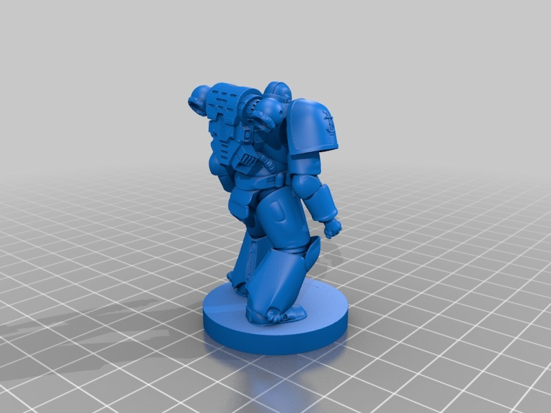 Warhammer Space Marine by 660 - Thingiverse