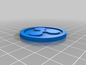 Ripple Coin 40x3mm digitl crypto currency