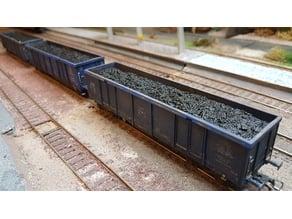 H0 4axles wagon coal load