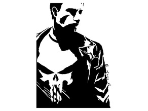 The Punisher Stencil