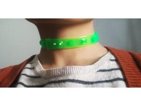 PLA-printable Flexible Minimalist Geometric Choker Necklace