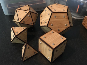 Lasercut & 3D printed Platonic Solids