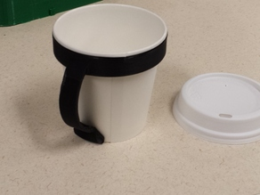 8oz Paper Cup Mug Handle
