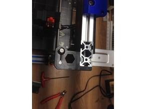2040 Extrusion Nema 17 Motor and rod holder Flex fit. Prusa Bear I3 Non Vslot