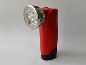 Milwaukee M12 flashlight with adjustable head