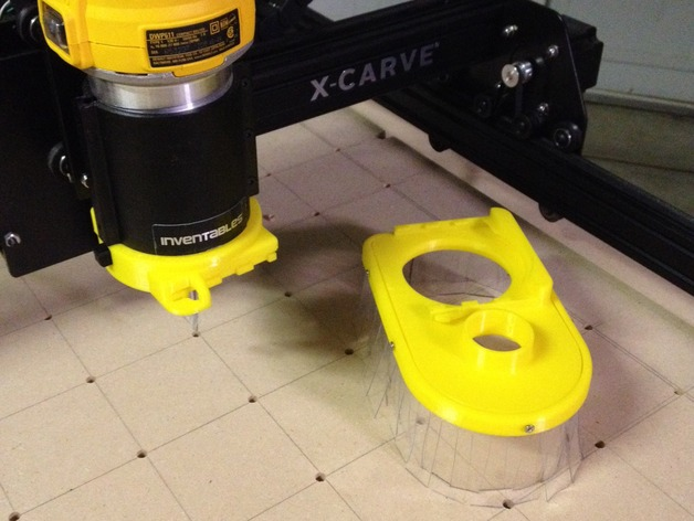 Dewalt dwp611 thread on dust shoe for x carve by nmackes thingiverse thingiview greentooth Choice Image