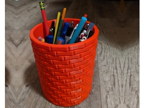 Brick Pencil Holder / Starbucks Koozie