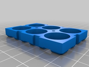 Customizable battery holder for 18650 or any other circular batteries