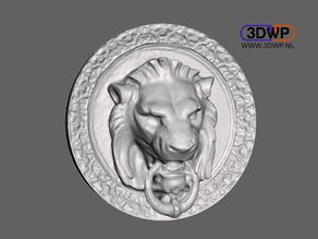 Lion Head Wall Hanger (Door Lion 3D Scan)