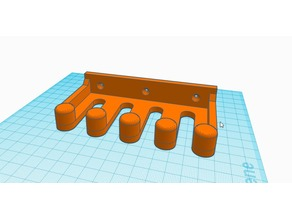 Wall holder for oscilloscope probes