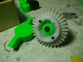 OpenRC Truggy much stronger Axle shaft with modify sun gear for differential
