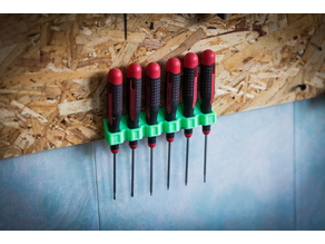 Screwdriver holde, Wall Mount