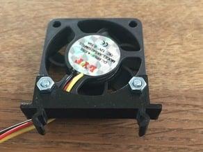 Clipon 40mm fan mount for Kossel Mini 2020