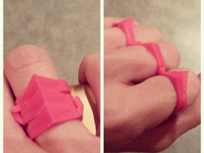 Folding Knuckle Duster Ring