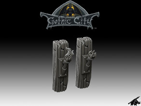 Tilescape Gothic City Torch Posts - Our New KICKSTARTER is Now LIVE!!!!