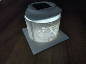 Stand for Lithophan Pictures with Solar-LED-Lamp