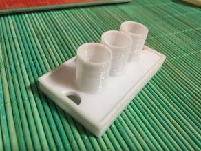 Porta spazzolini con vaschetta di raccolta acqua