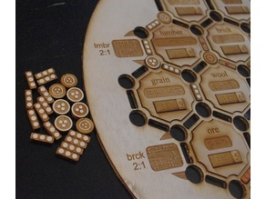 Lasercut Braille Settlers of Catan