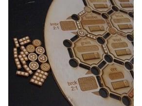 Lasercut Braille Settlers of Catan