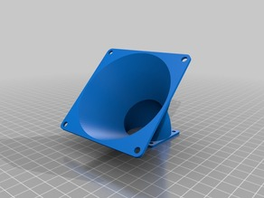 Fan adapter 40mm to 80mm with angle 45