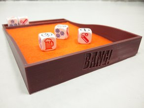 Bang the Dice Game - dice tray