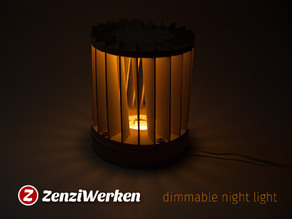 Dimmable Night Light cnc/laser