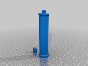 Roller and 2020 brace for Filler - Customizable Filament Holder  - hollow with separate pin