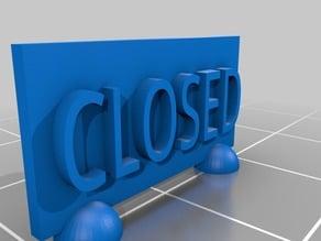 Closed Sign (D)