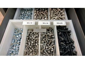 Customizable Label Clip for Small Parts Tray