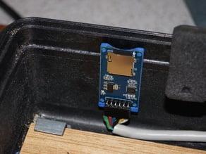 micro SD reader mount
