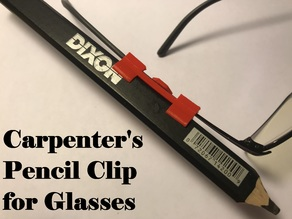 Carpenter's Pencil Clip for Glasses
