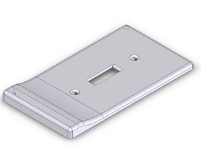 Magnetic Lightswitch Plate