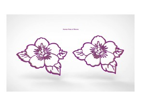 Korean Rose of Sharon Decoration