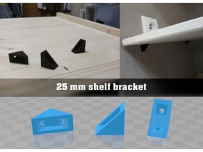 25mm shelf bracket