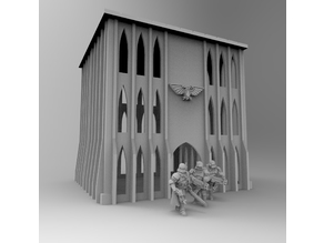 Gothic Imperial Building 28mm 03
