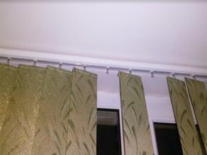 Vertical blinds (жалюзи, zhaluzi) repair plate