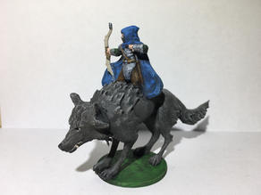 Ranger / Archer on Dire Wolf 28mm Remix
