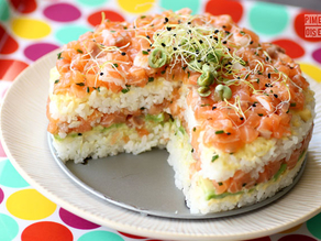 Sushi cake mold