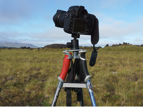 Photo tripod from trekking poles
