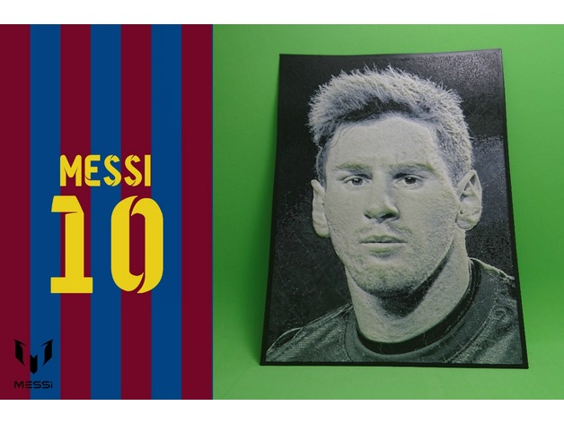 Dibujo 3d messi by tresdlito  Thingiverse
