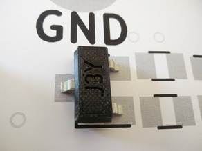 10:1 SMD part: SOT-23 Transistor