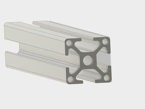 30X30 8mm Slot Extruded Aluminium 500mm Length