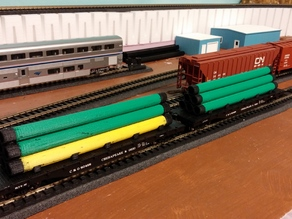 HO Scale pipe load for flat car