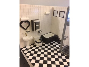 Miniature Window frame & Mirror frame  (bathroom)