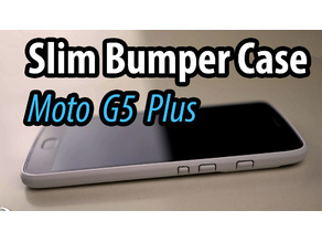 Moto G5 Plus Slim Bumper Case