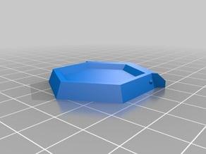 Sliding Top Hexagon Boxes Snap Shut Lid