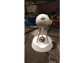 Decorative collectable Golf Ball and Ball Marker Holder