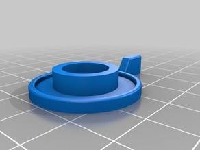 Heathkit Paddle Knob - uses existing collar