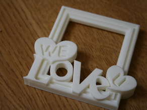 WE LOVE U - Picture Frame